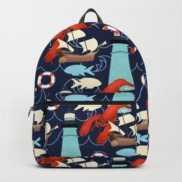 Lighthouse and Lobster Backpack