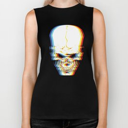 Psychedelic Skeleton Simple Halloween Costume Idea Scary Bone Collector Gift Skull Trippy Retro Biker Tank