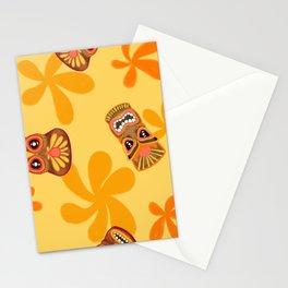 Retro Summer Tiki Room Stationery Cards