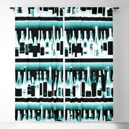 Wine Bottles - version 2 #decor #buyart #society6 Blackout Curtain