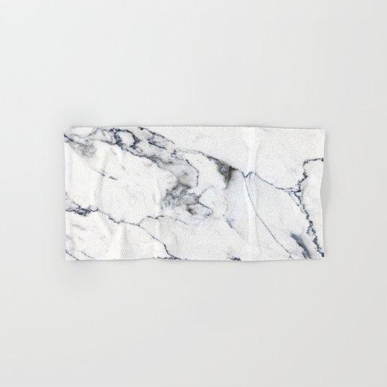 White Marble I Hand & Bath Towel