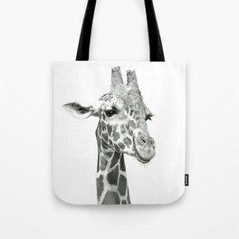 Drawing Of A Smiling Giraffe Tote Bag