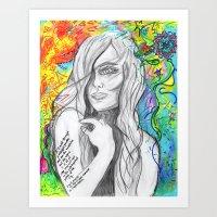 I will dance Art Print