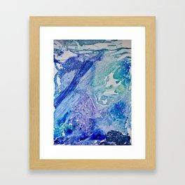 Water Scarab Fossil Under the Ocean, Environmental Framed Art Print