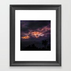 Before a Tropical Storm Framed Art Print