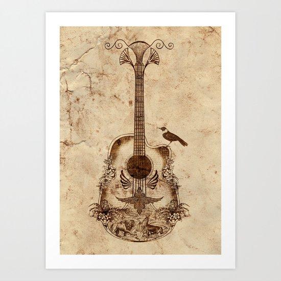 The Guitar's Song Art Print