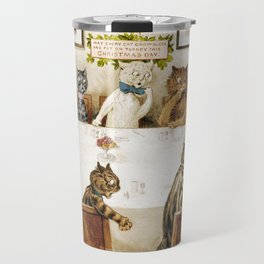 Cats dinner party Travel Mug