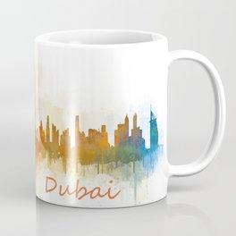 Dubai, emirates, City Cityscape Skyline watercolor art v3 Coffee Mug
