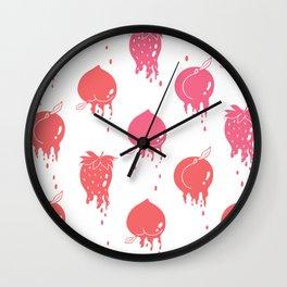 Melting Fruit pink Wall Clock