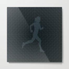 5k Runner Girl Metal Print