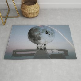 The moon will rise Rug