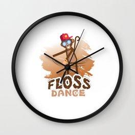 Floss Dance Move Monkey Wall Clock