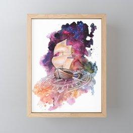 Space Ship Framed Mini Art Print