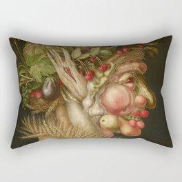 Giuseppe Arcimboldo - Summer Rectangular Pillow