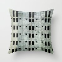 building Throw Pillows featuring Building by Sumii Haleem