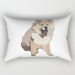 Fluffy Dog Rectangular Pillow