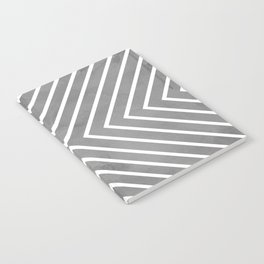 Stripes in Grey Notebook