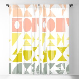 Organic Abstract Shapes in Soft Pastel Colors Blackout Curtain