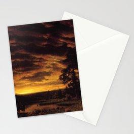 Albert Bierstadt - Evening on the Prairie Stationery Cards