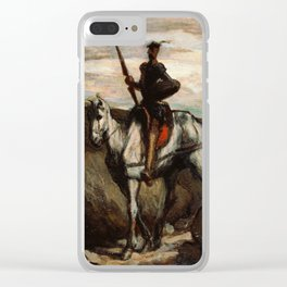 Don Quixote In The Mountains by Honore Daumier Clear iPhone Case