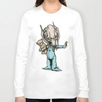 general Long Sleeve T-shirts featuring General Onesie by Albert F. Montoya