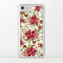 POINSETTIA - FLOWER OF THE HOLY NIGHT Clear iPhone Case