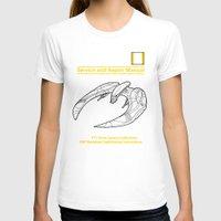 battlestar T-shirts featuring Cylon Raider Service and Repair Manual by adho1982