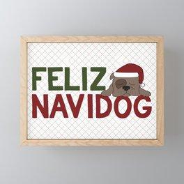 Feliz Navidog Framed Mini Art Print