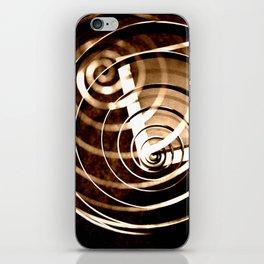 Romantic Spiral Kiss iPhone Skin