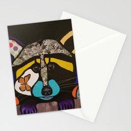 pop art raccoon Stationery Cards