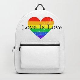 Love Is Love Rainbow Pride Heart 5 Backpack