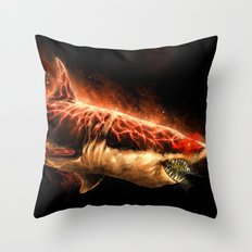 Great White Sharks #2 Throw Pillow
