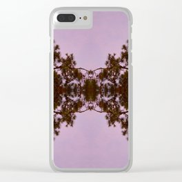 Mirrored Trees Double Clear iPhone Case