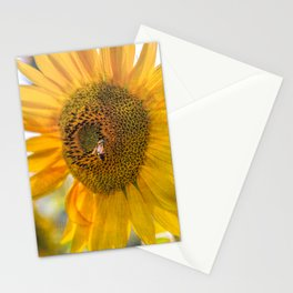 Bold Sunflower with Bee Stationery Cards