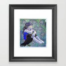 Crow´s secret Framed Art Print