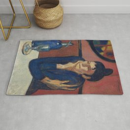 THE ABSINTHE DRINKER - PABLO PICASSO  Rug