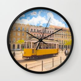 tram . electrico Wall Clock
