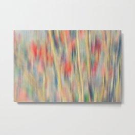 Spring Fling -- Abstract Floral Metal Print