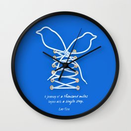 A Journey of A Thousand Miles Begins With A Single Step- Lao Tzu Quote Wall Clock