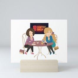 Friendship With A Cup Mini Art Print