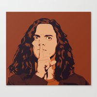 eddie vedder Canvas Prints featuring Eddie Vedder by Renan Lacerda