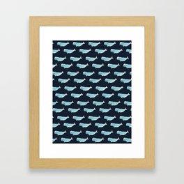 Watercolor Beluga pattern Framed Art Print