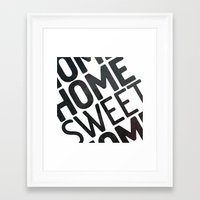 home sweet home Framed Art Prints featuring HOME by Eolia