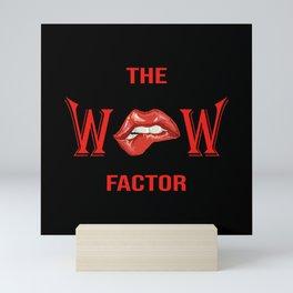 Wow Factor Seductive Red Lips Temptation Mini Art Print
