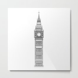 Big Ben at Midnight Metal Print