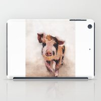 pig iPad Cases featuring Pig by Bridget Davidson