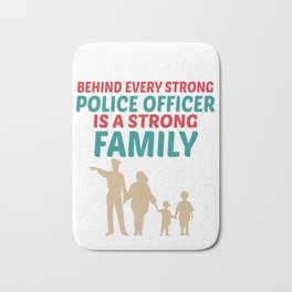 Strong Police Family Design Bath Mat