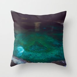Color Dye and Water  - Three Throw Pillow