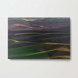 The Palouse Hills at Sunset Metal Print