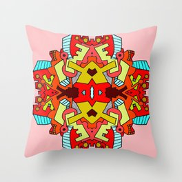 Polyaggregational Throw Pillow